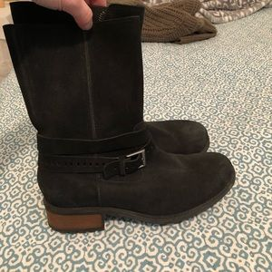 Ugg size 8 1/2 Black Suede Boot